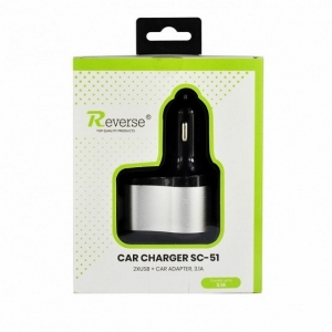 CL adaptér USB REVERSE 2x USB 3,1A, 1x hnízdo, SC-51