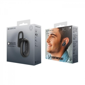 Bluetooth headset BOROFONE FreeTalk BC13 barva černá