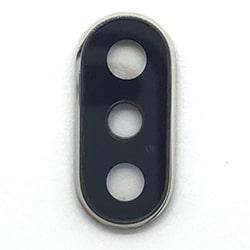 Sklíčko zadní kamery iPhone XS (5,8), XS MAX (6,5) + rámeček stříbrná (bílá)