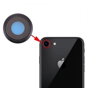 Sklíčko zadní kamery iPhone 8 (4,7) + rámeček černá