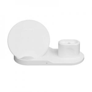 Indukční nabíječ 3v1 pro Apple (telefon, smartwatch, airpods) 10W, barva bílá