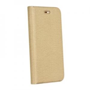 Pouzdro LUNA Book Samsung A750 Galaxy A7 (2018), barva zlatá