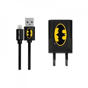 Cestovní nabíječ Licence Batman (001) iPhone 5, 5S, 5C, 6, 6 Plus, 7, 7PLUS