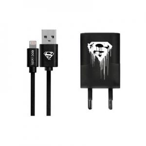 Cestovní nabíječ Licence Superman (006) iPhone 5, 5S, 5C, 6, 6 Plus, 7, 7PLUS