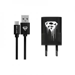 Cestovní nabíječ Licence Superman (001) micro USB TYP C