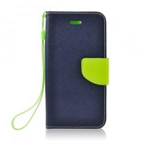 Pouzdro FANCY Diary Huawei P30 Lite barva modrá/limetka