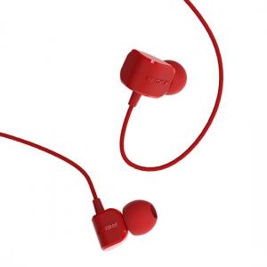 Hands Free REMAX RM-502 3,5 mm jack, barva červená