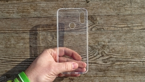Pouzdro Back Case Ultra Slim 0,3mm Samsung A105 Galaxy A10 transparentní