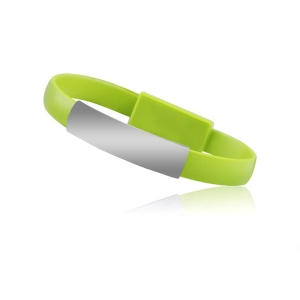 Datový kabel Bracelet - iPhone Lightning, barva zelená