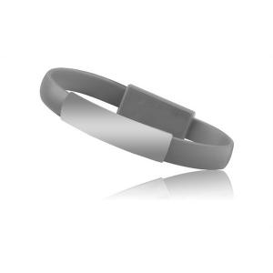 Datový kabel Bracelet - micro USB Typ C, barva šedá