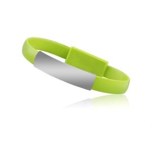 Datový kabel Bracelet - micro USB Typ C, barva zelená