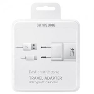 Nabíječ Samsung EP-TA20EWE + kabel EP-DN930CWE - TYP-C 2A (BLISTR) bílá - white BOX
