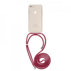 Pouzdro Forcell CORD Samsung A405 Galaxy A40, barva transparent + červená šňůrka