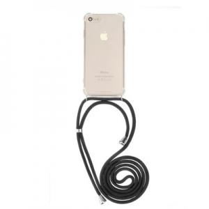 Pouzdro Forcell CORD Xiaomi Redmi 6, barva transparent + černá šňůrka
