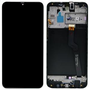 Dotyková deska Samsung A105 Galaxy A10 DUAL SIM CZ + LCD + rámeček black Service Pack - originál