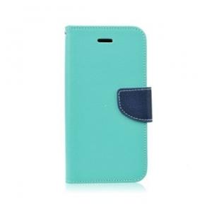 Pouzdro FANCY Diary iPhone 5, 5S, 5C, SE barva světle modrá/modrá