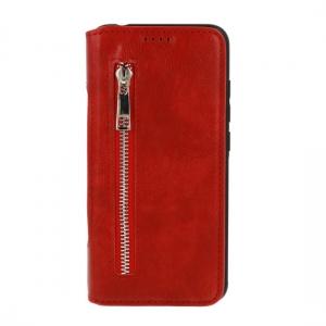 Pouzdro Business Zip Samsung A750 Galaxy A7 (2018), barva červená