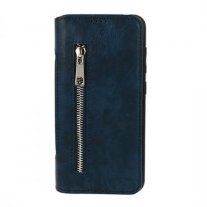Pouzdro Business Zip Samsung A750 Galaxy A7 (2018), barva tmavě modrá