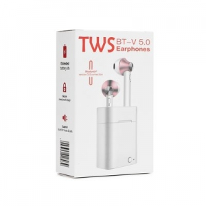 Bluetooth headset TWS EP-003, barva silver