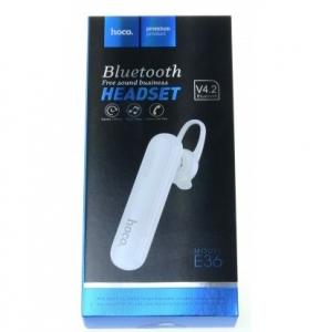Bluetooth headset HOCO E36 barva bílá