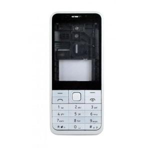 Nokia 230 Dual SIM kryt bez klávesnice barva white/silver