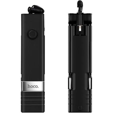 Selfie držák HOCO Beauty K3A barva černá - připojení pro iPhone