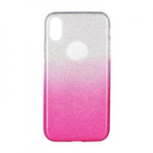 Pouzdro Back Case Shining iPhone XS Max (6,5), barva růžová