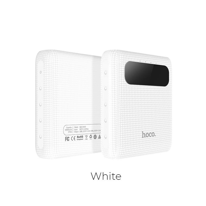 POWER Bank HOCO Mige B20 - 10000mAh barva bílá