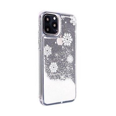 Pouzdro Winter iPhone XS Max (6,5), vzor Snow