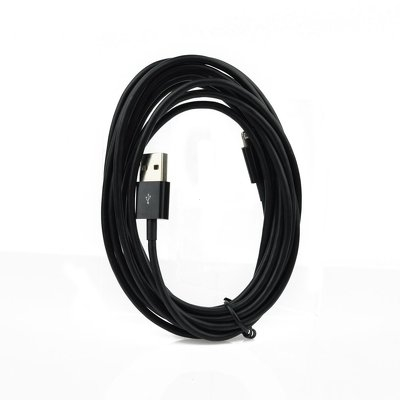 Datový kabel iPhone Lightning, barva černá - 3 metry
