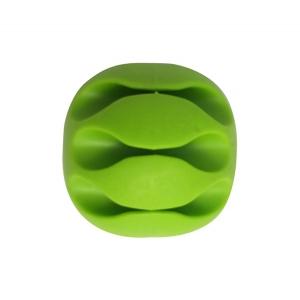 Organizér pro datový kabel, HF - 3 kabely barva zelená