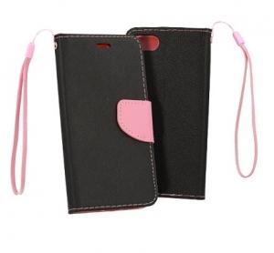 Pouzdro FANCY Diary iPhone 7, 8, SE 2020 (4,7) barva černá/růžová