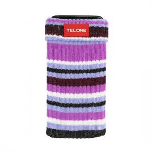 Pouzdro ponožka barva fialová - proužkovaná