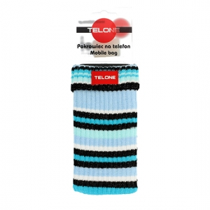 Pouzdro ponožka barva tyrkysová - proužkovaná