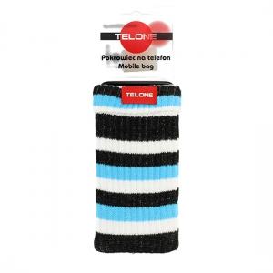 Pouzdro ponožka barva modrá - proužkovaná