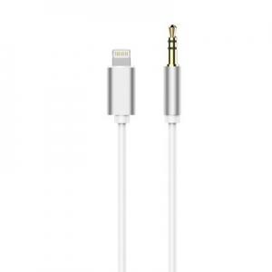 Adaptér iPhone Lightning / Jack 3,5mm barva stříbrná