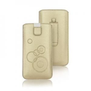 Pouzdro DEKO iPhone 5, 5S, 5C, SE Nok 225, Sam i9190, G360, Z5 mini barva zlatá