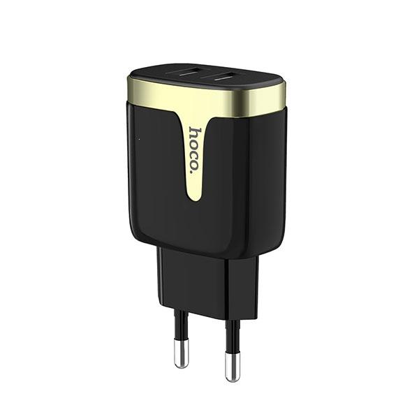 Cestovní nabíječ HOCO C64A 2xUSB Fast Charge 2.1A černá