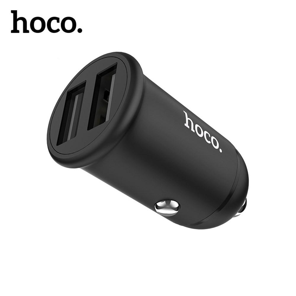 CL adaptér HOCO Z30 2x USB 3,1A barva černá