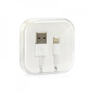 Datový kabel iPhone Lightning (8-pin) iOS7+ barva bílá BOX