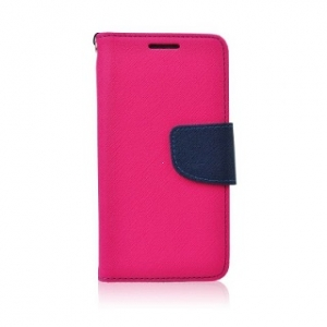Pouzdro FANCY Diary iPhone 5, 5S, 5C, SE barva růžová/modrá