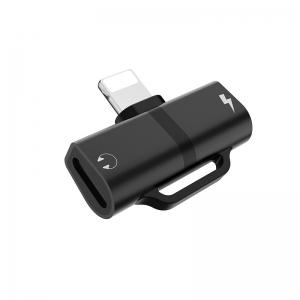 HOCO LS 20 Adaptér SHORT HF/audio + nabíjení iPhone Lightning barva černá