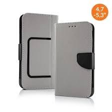 Pouzdro Book STICK FANCY universal 4,7 - 5,3 šedá/černá