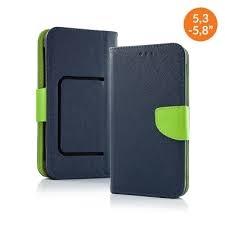 Pouzdro Book STICK FANCY universal 5,3 - 5,8 modrá/limetka