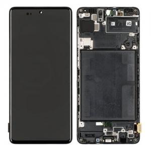 Dotyková deska Samsung A715 Galaxy A71 + LCD + rámeček black Service Pack - originál