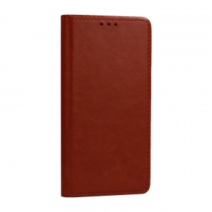 Pouzdro Book Leather Special Huawei Y7 (2019), barva hnědá