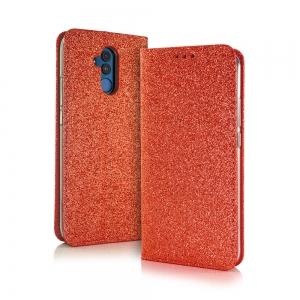 Pouzdro Shining Book Huawei Y7 (2019), barva červená