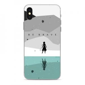 Pouzdro iPhone 5, 5S, SE Krajina ledu vzor 005