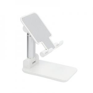 Stojánek pro mobil skládací - plast, barva stříbrná