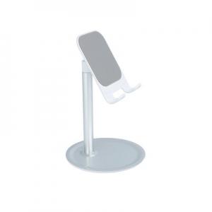 Stojánek pro mobil - kovový, barva stříbrná